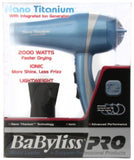 BaBylissPRO Nano Titanium Dryer 2.53 lb. Blue - Chickadee Solutions