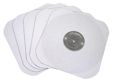 "(50) White Heavyweight Paper Inner Sleeves for 12"" Records - 12IW - Chickadee Solutions"