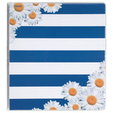Mead 3 Ring Binder 1 Inch Pretty Please Flowers/Stripes Design (73126) Stripes - Chickadee Solutions - 1
