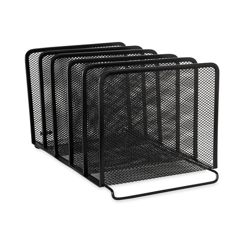 Rolodex Mesh Collection Stacking Sorter 5-Section Black (22141) 1 - Chickadee Solutions - 1