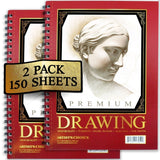 Sketch Pad (2 Pack) 150 Sheets 9x12 Premium Sketchbook 60 LBS/90 GSMS - Acid ... - Chickadee Solutions - 1