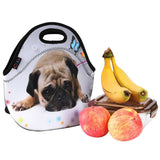 iColor Cute Pug Boys Girls Kids Neoprene Sleeve Insulated Lunch Tote Pouch Co... - Chickadee Solutions - 1