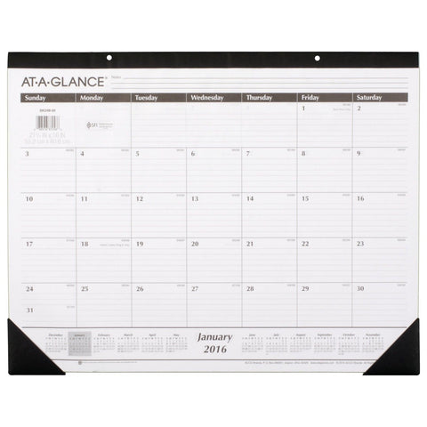 AT-A-GLANCE Monthly Desk Pad Calendar 2016 Ruled 21-3/4 x 16 Inches (SK2400) - Chickadee Solutions - 1