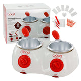 Chocolate Melting Pots- Deluxe Electric Chocolate Fondue Pots with over 30 Ac... - Chickadee Solutions - 1