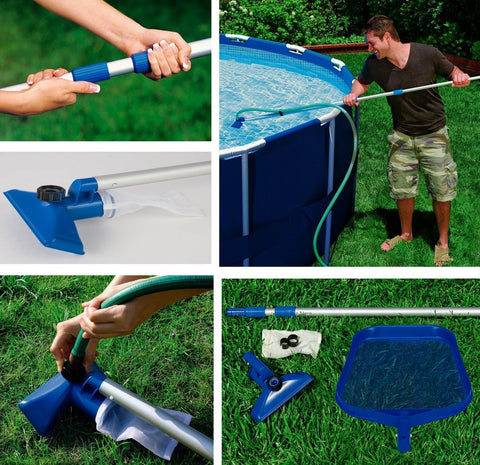 INTEX Cleaning Maintenance Swimming Pool Kit with Vacuum & Pole - Chickadee Solutions - 1