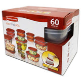 Rubbermaid 60-Piece Easy Find Lid Food Storage Container Set Red - Chickadee Solutions