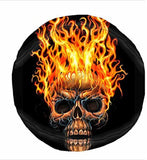 Hacky Sack - Flaming Skull 8 Panelled Suede - Chickadee Solutions