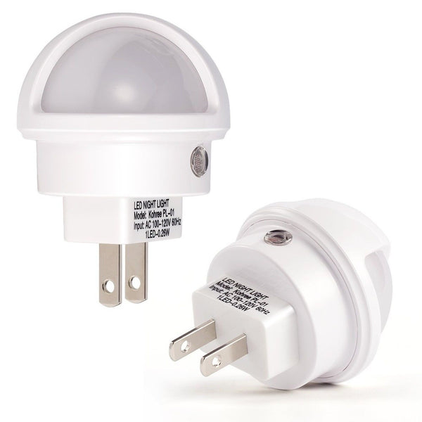 2x Led Night Light Automatic Dusk To Dawn Sensor For