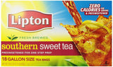 Lipton Southern Sweet Tea Gallon-Size Tea Bags 18-Count - Chickadee Solutions - 1
