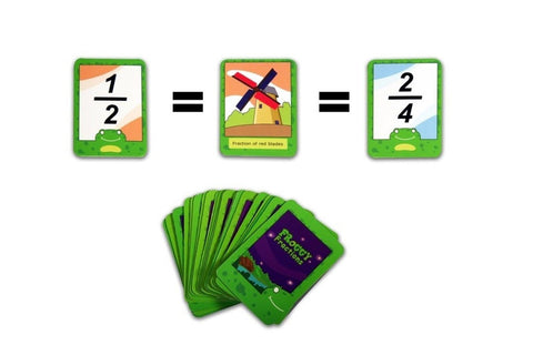 Logic Roots Math Game FROGGY FRACTIONS with Equivalent Fractions Summer Gift ... - Chickadee Solutions - 1