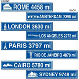 Travel Street Sign Cutouts (4/Pkg) - Chickadee Solutions