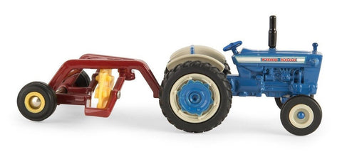 1:64 Ford 5000 Tractor with Hay Rake - Chickadee Solutions