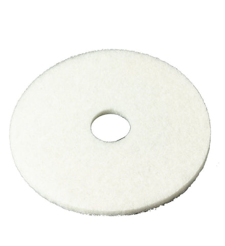 "3M White Super Polish Pad 4100 12"" Floor Pad Machine Use (Case of 5) 12 inches - Chickadee Solutions"