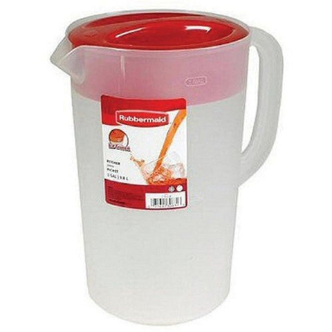 1 Gallon Servin' Saver Pitcher Red 1 - Chickadee Solutions