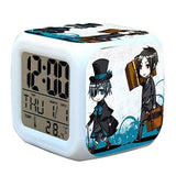 R-timer New Anime Black Butler Kuroshitsuji Alarm Clock LED Light Nightlight ... - Chickadee Solutions - 1
