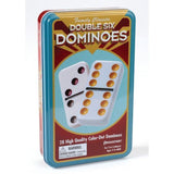Pressman Double 12 Color Dot Dominos In A Tin PR-3927 021853039276 - Chickadee Solutions