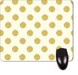 Gold PRINT Polka Dots-Square Mouse pad - Stylish durable office accessory and... - Chickadee Solutions