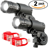 Bright Eyes Aircraft Aluminium Waterproof 300 Lumen LED Bike Light Set (Headl... - Chickadee Solutions - 1