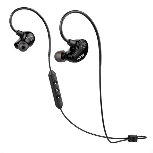 aukey loops bluetooth headphones wireless sport earbuds with build in microph chickadee. Black Bedroom Furniture Sets. Home Design Ideas