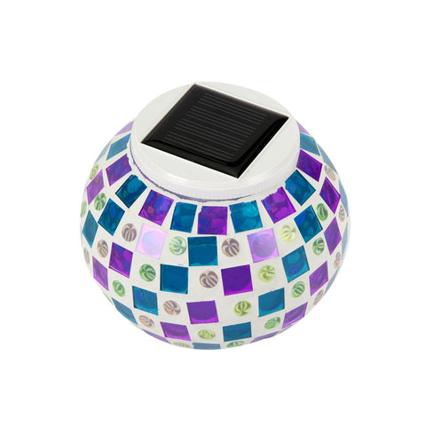 Exlight Solar Powered Mosaic Glass Ball Garden Lights Color Changing Solar La... - Chickadee Solutions - 1