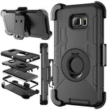 Note 5 CaseGalaxy Note 5 Holster caseCase-cubic Hybrid Dual Layer Combo Armor... - Chickadee Solutions - 1