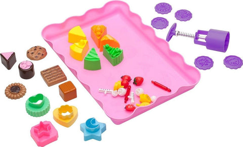 Deluxe Cake and Cookie Sand Molds Kit (37 pcs) with Play Tray - Compatible wi... - Chickadee Solutions - 1