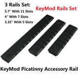 "Field Sport 3 Rails KeyMod Picatinny Accessory Rail Set 5.7"" With 11 Slots 4""... - Chickadee Solutions"