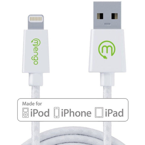 Mengo MG100 MFI Braided Tangle-Free Lightning to USB Cable 2M - Retail Packag... - Chickadee Solutions - 1