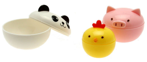 Kotobuki Mini Condiment Containers for Bento Box Panda Piggy and Chick - Chickadee Solutions - 1
