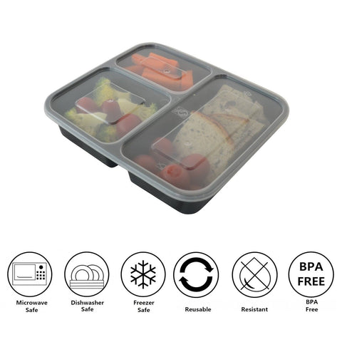 prefer green 3 compartment bento box durable plastic lunch boxes sets meal chickadee. Black Bedroom Furniture Sets. Home Design Ideas