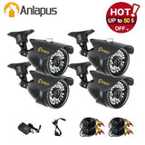 Anlapus 4 Pack 900TVL 960H Outdoor/Indoor 100FT/30M Night Vision Waterproof W... - Chickadee Solutions - 1