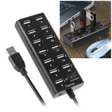 Insten 13-Port High Speed USB 2.0 Hub with ON/OFF Switch For Transfer Data Sp... - Chickadee Solutions - 1