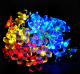 Solar Powered Multicolor LED Flower Fairy String Lights Blossom Lighting 21ft... - Chickadee Solutions - 1