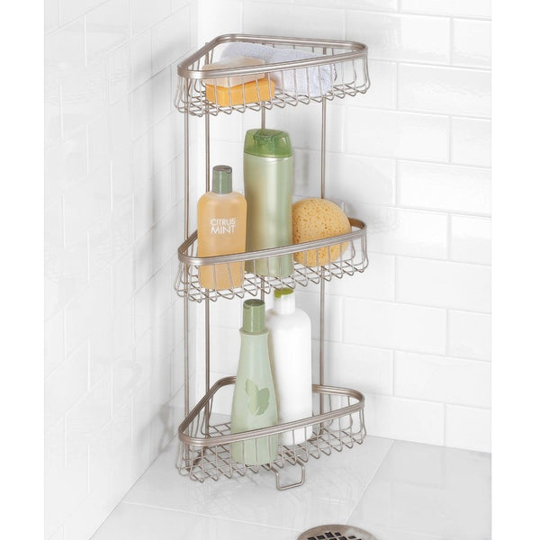 Mdesign Free Standing Bathroom Or Shower Corner Storage Shelves For Towels So Chickadee