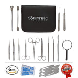 Dissection Kit - Lifetime Guarantee - 20 Piece Set of High Quality & Medical ... - Chickadee Solutions - 1