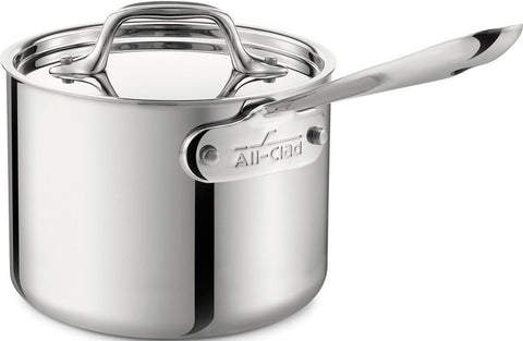 All-Clad 4201.5 Stainless Steel Tri-Ply Bonded Dishwasher Safe Sauce Pan with... - Chickadee Solutions - 1