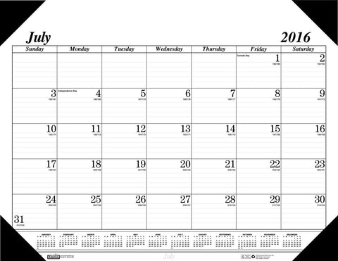 House of Doolittle 2016 - 2017 Monthly Desk Pad Calendar Academic Economy 22 ... - Chickadee Solutions