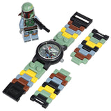 LEGO Kids' 9003363 Star Wars Boba Fett Watch with Link Bracelet and Figurine - Chickadee Solutions - 1