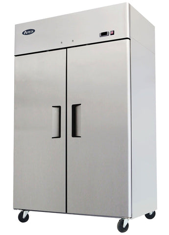 "52"" Double 2 Door Side By Side Stainless Steel Reach in Commercial Refrigerat... - Chickadee Solutions - 1"