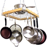 Cooks Standard Ceiling Mount Wooden Pot Rack 24-inch by 18-inch - Chickadee Solutions - 1