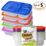 Orgalif Bento Lunch Box Container Food Storage 3-compartment Eco Friendly for... - Chickadee Solutions - 1
