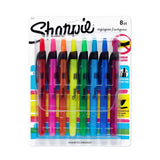 Sharpie Accent Retractable Highlighters Assorted Narrow Chisel Tip 8/Pack - Chickadee Solutions - 1