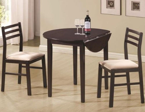 Coaster 3 Piece Dining Set Cappuccino Brown - Chickadee Solutions