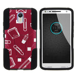 Droid Turbo 2 Armor Cover STRIKE Impact Built In Kickstand Case with Customi... - Chickadee Solutions