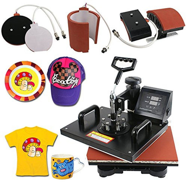 Zeny professional 5 in 1 12 x 15 multifunction for Machine to print t shirts
