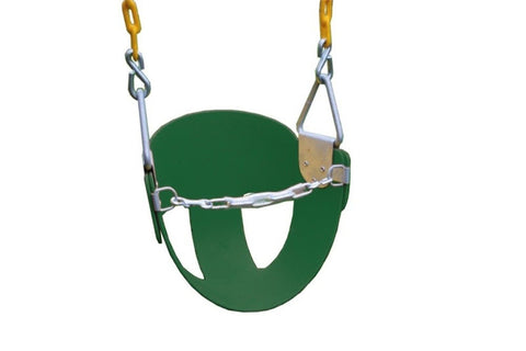 Eastern Jungle Gym High Back Half Bucket Swing With Coated Chain - Green - Chickadee Solutions