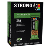 STRONG & KIND Protein Bars Roasted Jalapeno Savory Snack Bars 1.6 Ounce 12 Co... - Chickadee Solutions - 1