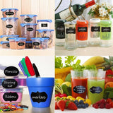 Wuudi(TM) Premium Reusable Chalkboard Labels Chalk Stickers for Mason Jars Ca... - Chickadee Solutions - 1