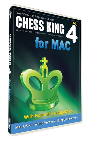 Chess King 4 with Houdini 4 Chess Software for Mac - Chickadee Solutions - 1