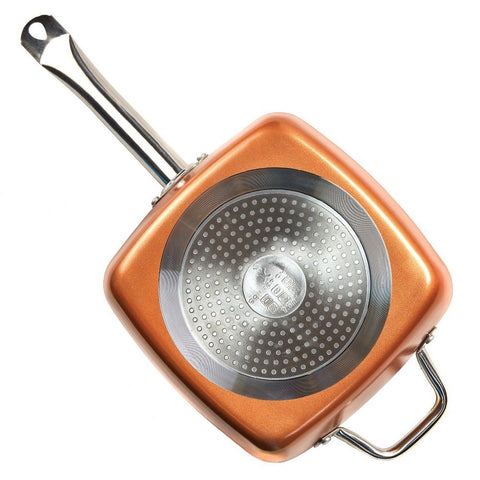 Tristar Products 5 Piece Chef Pan With Glass Lid Copper